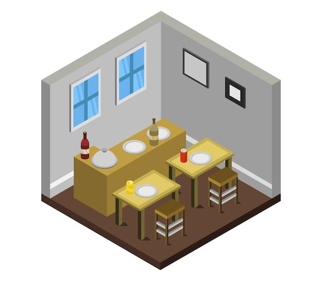 Изометрический ресторан