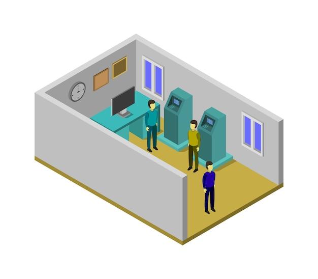 Изометрическая банковская комната