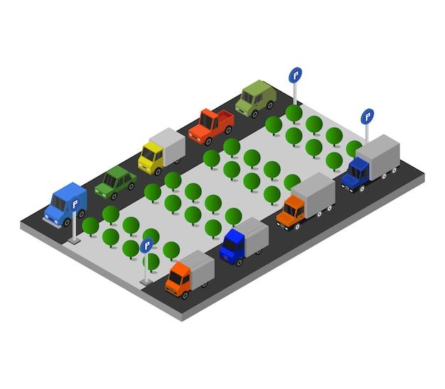 等尺性駐車場