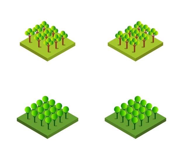 Набор изометрических деревьев