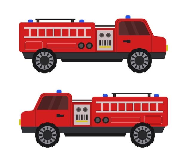 Игрушка пожарная машина на белом