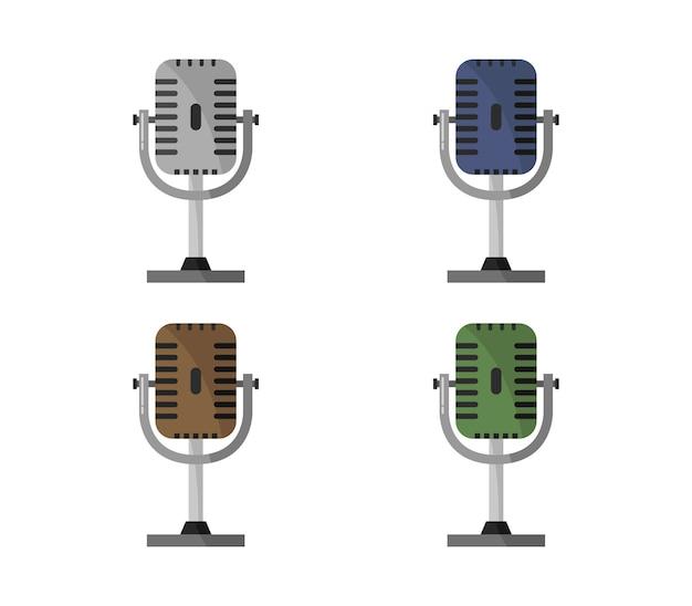 Микрофон на белом