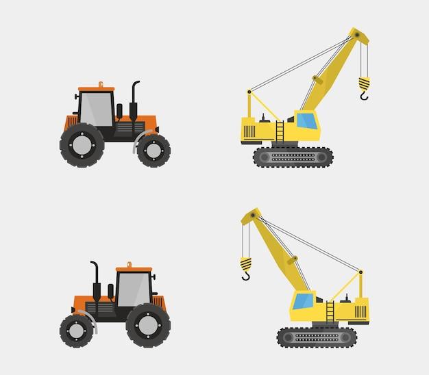 Комплект трактора и крана