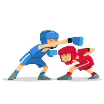 子供たちの間でボクシング。