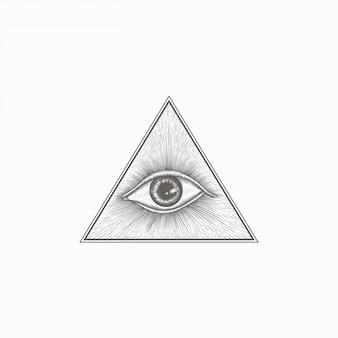 手描きヴィンテージ目幾何学図形