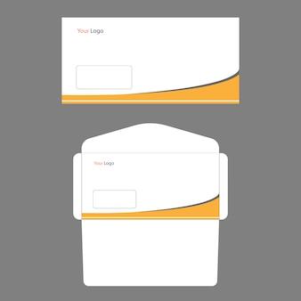 現代の封筒テンプレート