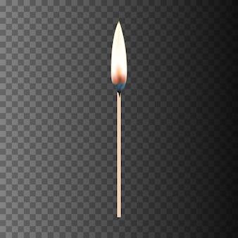 燃えるマッチ。