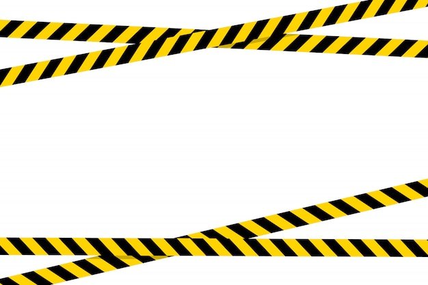 Предупреждающая лента плоский стиль