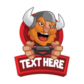 Викинг талисман логотип вектор игры киберспорт