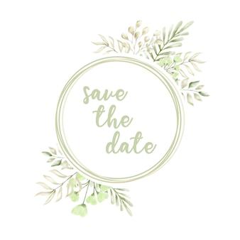 結婚式招待状の水彩画の花の背景ベクトル