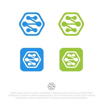 接続ロゴデザインテンプレートベクトル