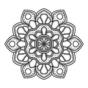 Мандала цветок векторные иллюстрации дизайн