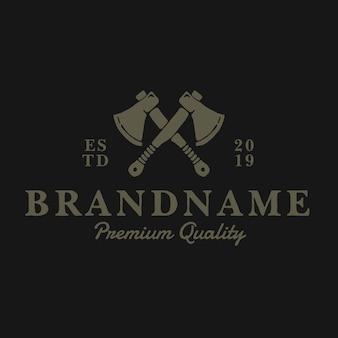 Топор винтажный логотип