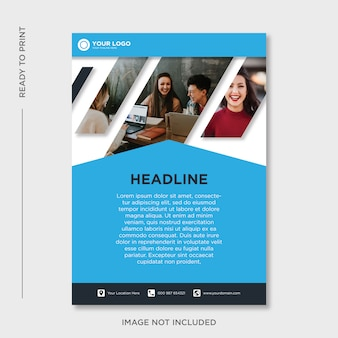Шаблон дизайна бизнес флаер