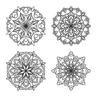 マンダラベクトルのロゴアイコンイラスト