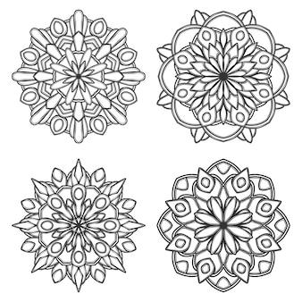Мандала цветочная иллюстрация
