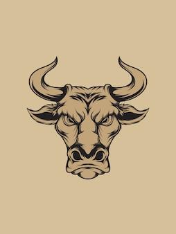 Голова быка