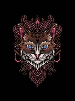 Кошка мандала