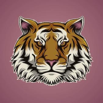 野生のトラの頭