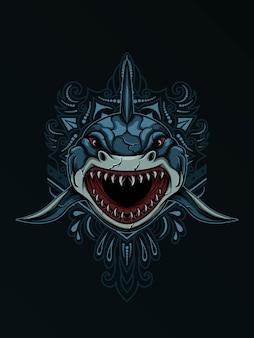 凶暴なサメ