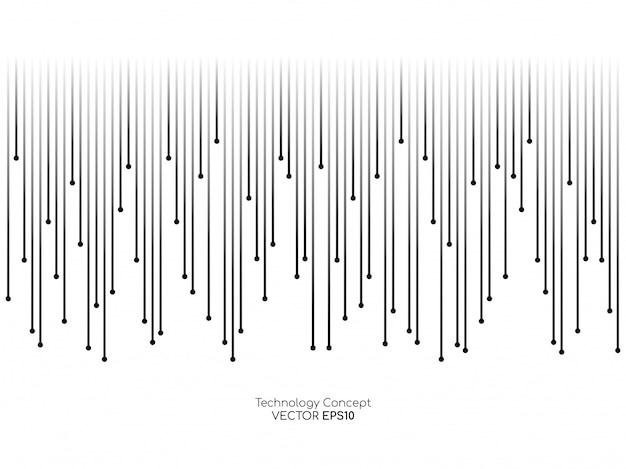 Абстрактные линии, падающие на белом фоне