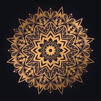 Роскошный фон мандалы с современной арабеской
