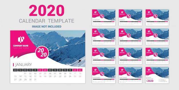 Элегантный настенный календарь розовый