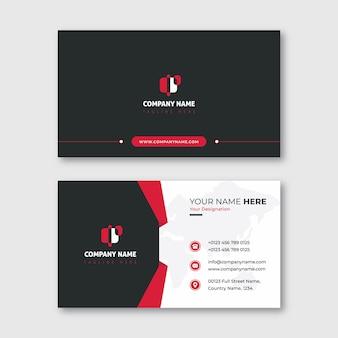 Черный и красный современный визитная карточка с формой