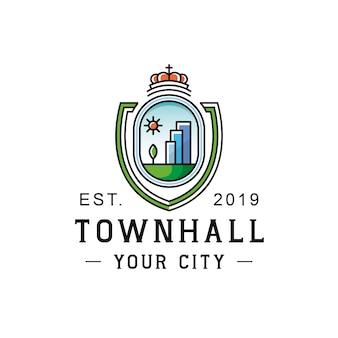 市庁舎シールドのロゴ