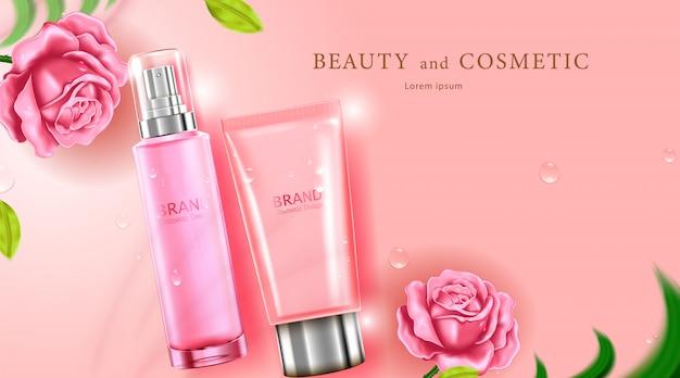 Роскошный косметический флакон-пакет по уходу за кожей крем