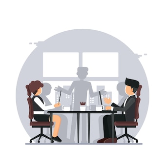 Деловая встреча, офис деловая презентация встреча в конференц-зале