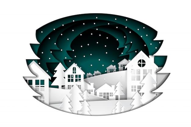 メリークリスマスと新年あけましておめでとうございます、ペーパーアート