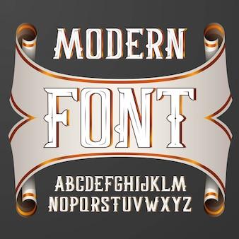 Удобный современный шрифт этикетки