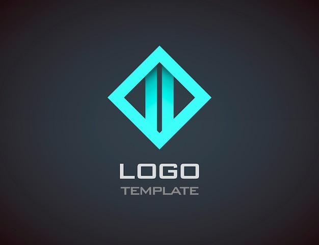 ファッションジュエリー高級コンセプト抽象的なロゴのテンプレート。ビジネス