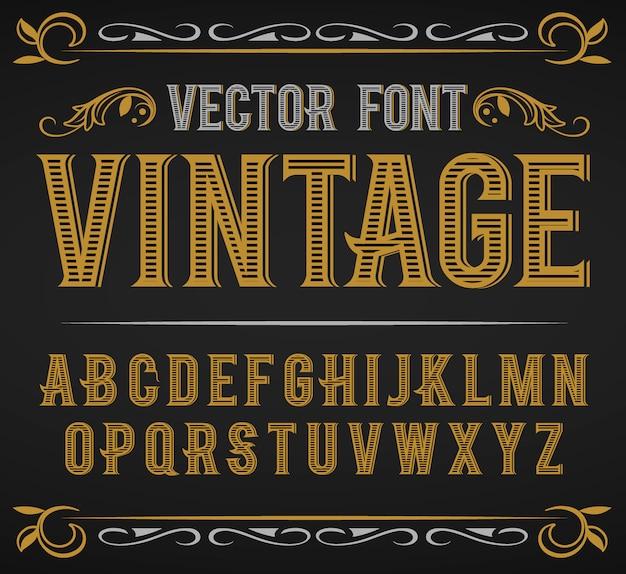 Шрифт старинные этикетки ретро шрифт