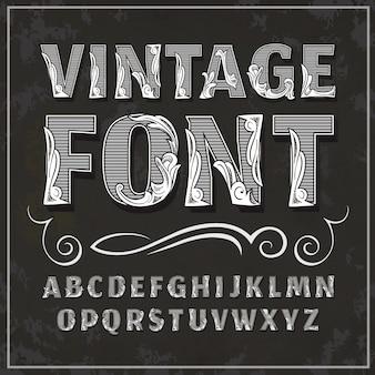 Винтажный шрифт ретро шрифт
