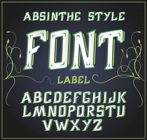 Кислотный шрифт подходит для украшения алкогольной продукции листовка и другая печать зеленая