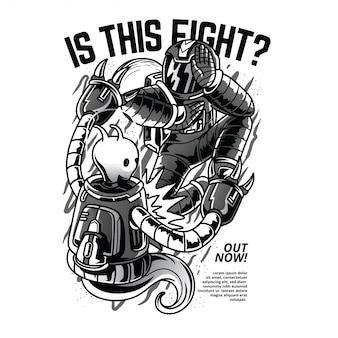 これは戦いですか?黒と白のイラスト