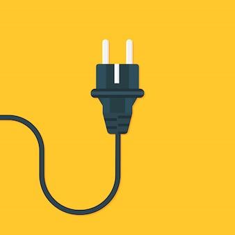 Электрическая розетка плоская. векторная иллюстрация