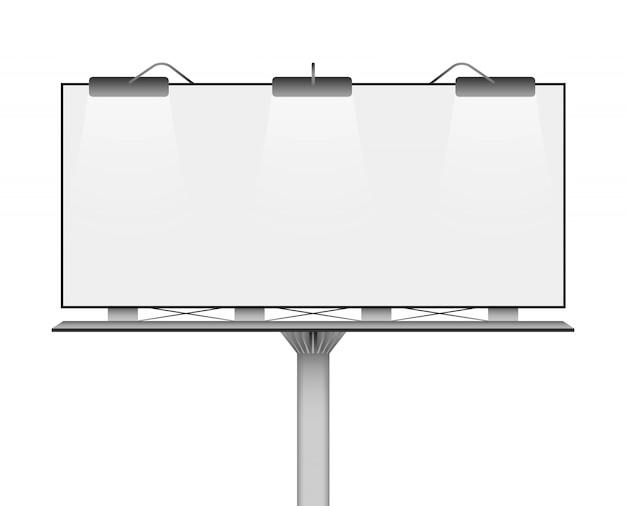 Пустой рекламный щит макет для вашей рекламы.