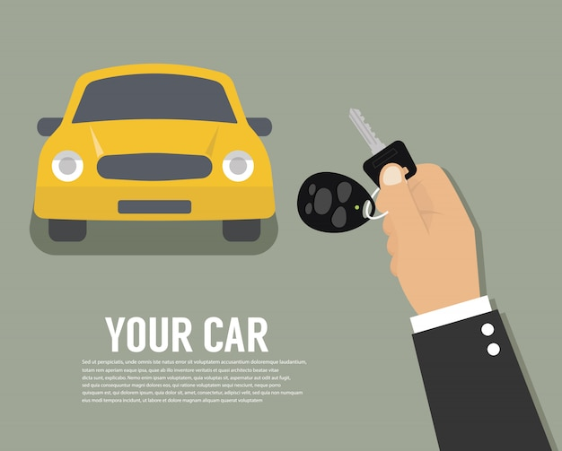 Рука, держащая ключи от машины или домашний ключ