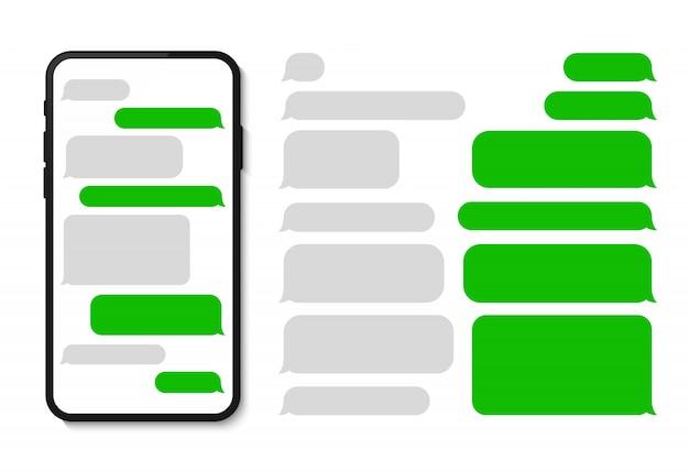 Шаблон сообщения телефона в чате смс шаблон пузыри