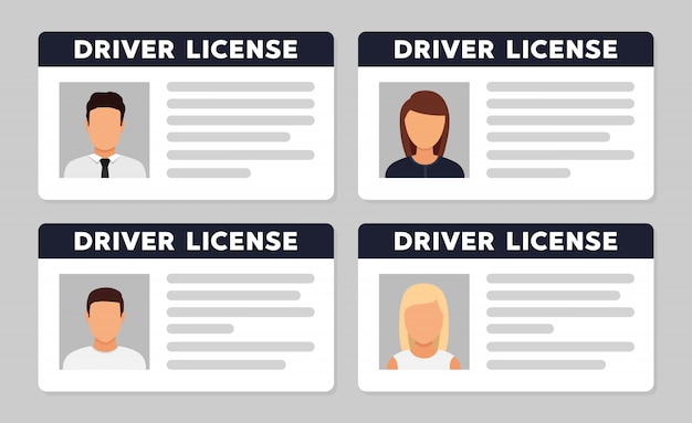 Идентификатор водительского удостоверения с аватаром фото