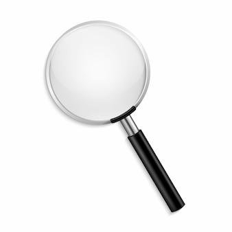透明な背景に現実的な虫眼鏡ベクトル分離ベクトル図
