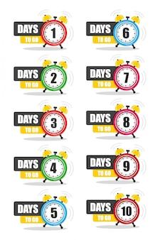 Количество дней, чтобы остаться без изменений. векторная иллюстрация плоский сток