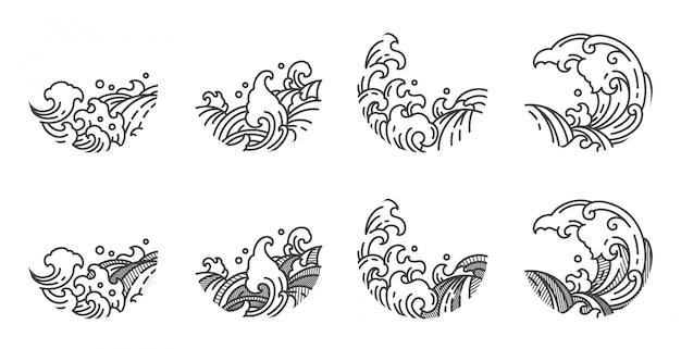 日食の形をした東洋の波