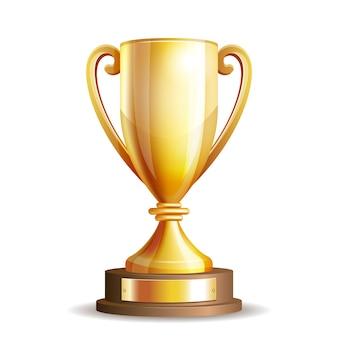 黄金のトロフィーカップ
