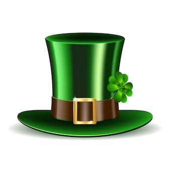 クローバーと緑の聖パトリックの日帽子