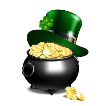 レプラコーンの帽子と金の鍋