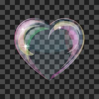Блестящее пузырьковое сердце